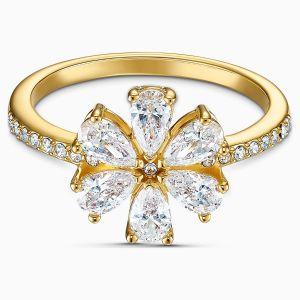 Swarovski Botanical Flower Ring - Gold-tone Plating - 5542531 5542530  5535798
