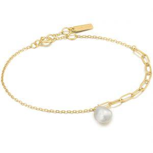 Ania Haie Pearl Chunky Gold Bracelet B019-02G