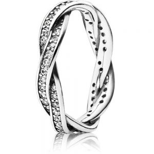 Pandora Sparkling Twisted Lines Ring - 190892CZ