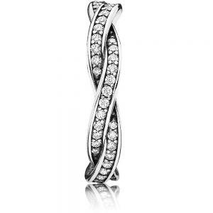 Pandora Sparkling Twisted Lines Ring - 190892CZ