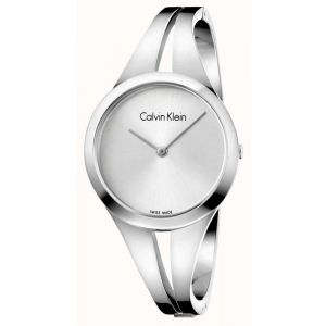 Calvin Klein Ladies Addict Bangle Watch, Silver Tone