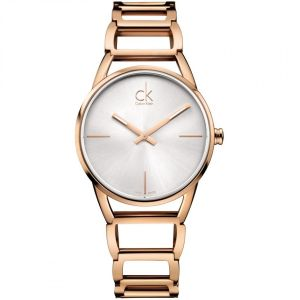 Calvin Klein Ladies Stately Watch, Rose Gold Tone