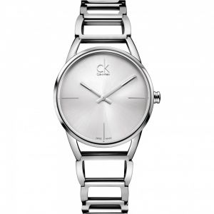 Calvin Klein Ladies Stately Watch, Silver Tone
