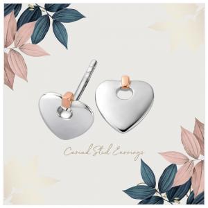 Clogau Cariad Heart Stud Earrings