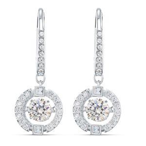 Swarovski Sparkling Dance Pierced Drop Earrings - Rhodium Plating - 5504652