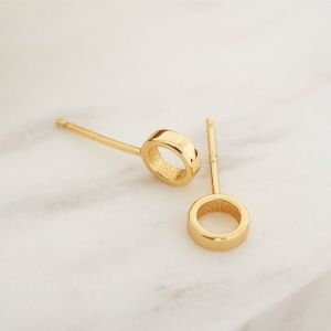 Ania Haie Open Circle Stud Earrings Gold