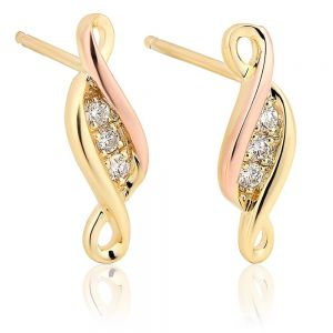 Clogau Past Present Future Earrings - PPFE