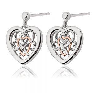 Clogau Welsh Royalty Heart Stud Earrings - 3SWLRE