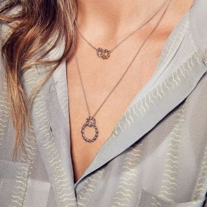 Kit Heath Kit Heath Coast Pebble Beach Double Ring Necklace 90206RP028