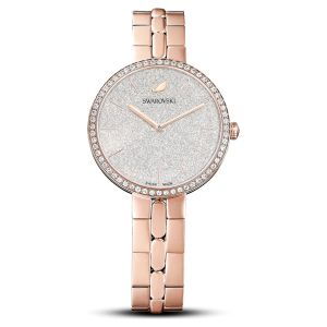 Swarovski Cosmopolitan Watch with Metal Bracelet - White Rose Gold Tone PVD 5517803