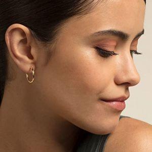 Thomas Sabo Classic Medium Hoop Earrings - Yellow Gold CR609-413-12