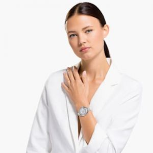 Swarovski Crystalline Aura Watch - Metal Bracelet - Silver tone - Stainless Steel