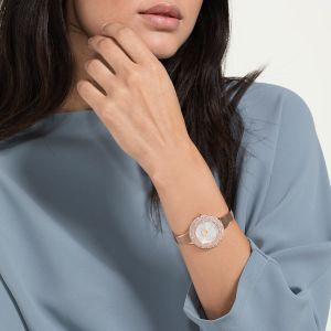 Swarovski Crystal Rose Watch, White, Rose Gold Plating 5484073
