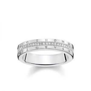 Thomas Sabo 'Classic White' Silver and Diamond Ring D_TR0026-725-14