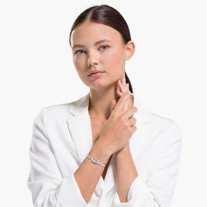 Swarovski Dancing Swan Bracelet - White - Rhodium Plating