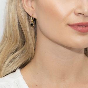 Sarah Alexander Dark Horse Black Onyx Mini Hoop Earrings
