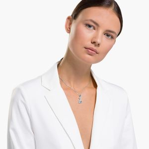 Swarovski Anniversary Dazzling Swan Drop Necklace 2020 - Blue