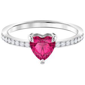 Swarovski One Ring, Small, Red, Rhodium Plating