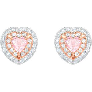 One Stud Pierced Earrings, Multi-coloured, Rose gold plating 5446995