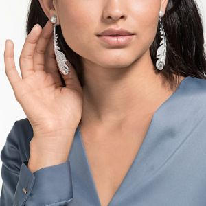Swarovski Nice Clip Earrings, White, Rhodium Plating 5497866