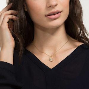 Swarovski Nice Necklace, White, Gold Plating