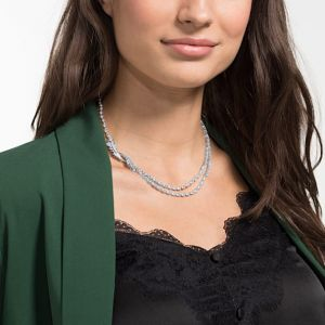 Swarovski Nice Necklace, White, Rhodium Plating 5493404