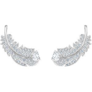 Swarovski Nice Stud Earrings, White, Rhodium Plating 5482912