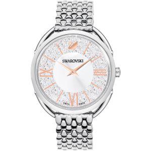 Swarovski Crystalline Glam Watch, Metal Bracelet, White, Silver Tone 5455108