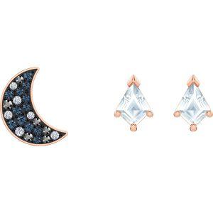 Swarovski Symbolic Pierced Earrings Set, Multi-Coloured, Rose Gold Plating