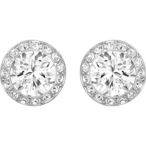 Swarovski Angelic Pierced Earrings, White, Rhodium Plating 1081942
