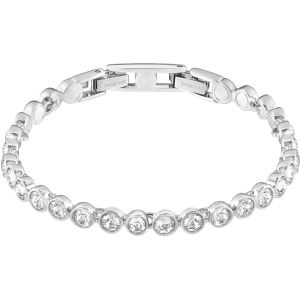 Swarovski Tennis Bracelet, White, Rhodium Plating 1791305