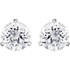 Swarovski Solitaire Pierced Earrings, White, Rhodium Plating 1800046