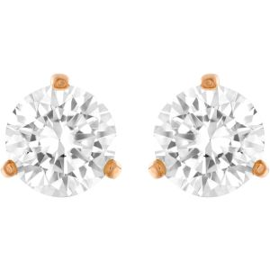 Swarovski Solitaite Pierced Earrings, White, Rose Gold Plating 5112156