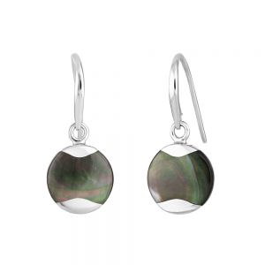 Jersey Pearl Dune Mother of Pearl Grey Drop Earrings DUDE-TH