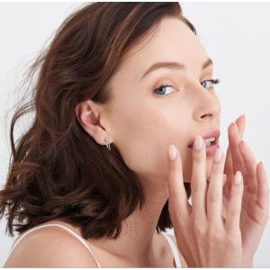 Ania Haie Modern Beaded Hoop Earrings - Silver
