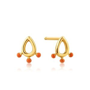 Ania Haie Modern Triple Ball Stud Earrings, Gold E002-01G