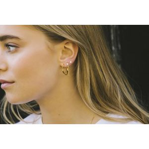 Sif Jakobs Cetara Pianura Piccolo Earrings, 18ct gold plated