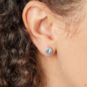 Beginnings March Birthstone Earrings