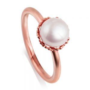 Jersey Pearl Emma-Kate ring, rose gold