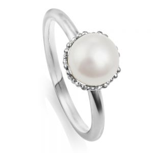 Jersey Pearl Emma-Kate Ring, Silver