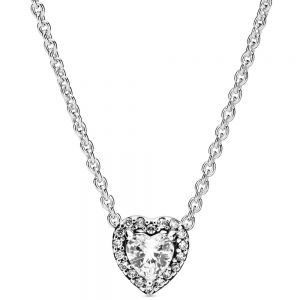 Pandora Elevated Heart Necklace - 398425c01