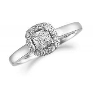 Brown & Newirth Diamond Halo Engagement Ring