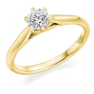Classic Six Claw Brilliant Cut Solitaire Diamond Engagement Ring