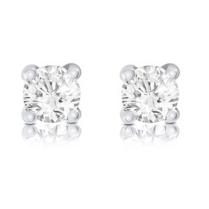 Brown & Newirth Round brilliant claw set diamond earrings