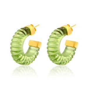 Shyla London Esme Earrings - Green