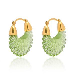Shyla London Ettienne Earrings - Green