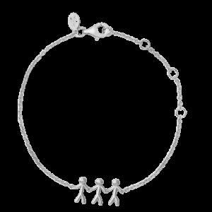 byBiehl Together Family 3 Silver Bracelet