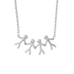 byBiehl Together Family 4 Silver Necklace 