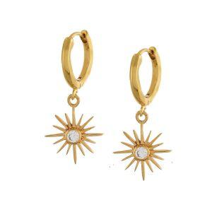 Shyla London Felicity Star Huggie Earrings - Crystal Clear