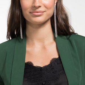 Swarovski Pierced Fit Earrings, White, Rhodium Plating